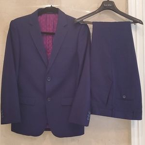 YOUTH'S NAVY BLUE NICOLE MILLER 2 PIECE SUIT